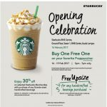 Starbucks offer Buy 1 Free 1 promo, 30%off Deals, FREE Upsize Offer!