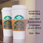 Starbucks Wednesdays Special Promotion!
