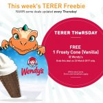 FREE One Frosty Cone Vanilla Ice Cream Giveaway!
