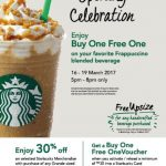 Starbucks Opening Special Buy 1 FREE 1 Offer!
