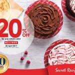 Secret Recipe Offer 20% off For A Whole Cake Deal!