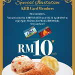 Kenny Rogers ROASTERS Spicy Chicken Lite Meal at RM10!