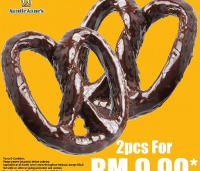 Auntie Anne's Offer Premium Pretzel Chocolate Eclairs Deal!