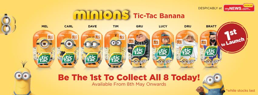 mynews 1st launched limited edition minions tic tac banana
