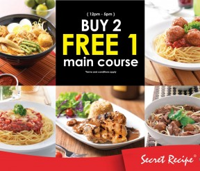 Secret Recipe Offer Buy 2 FREE 1 Deal!