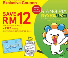 FREE Tesco Clubcard & Lazada Exclusive Coupon Giveaway!
