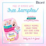 FREE New Biore Make Up Remover Wipes Sample Giveaway!