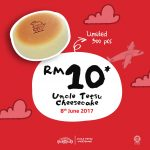 Uncle Tetsu Cheesecake Offer Signature Cheesecake at RM10 Only!