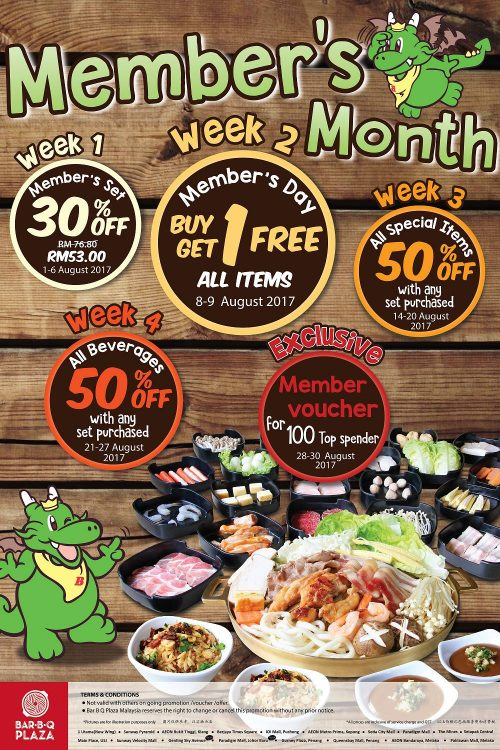 Bbq plaza malaysia refill promotional giveaways