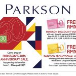 Parkson 30th Anniversary Sale!