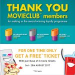 TGV Cinemas BUY 2 FREE 1 Deal!