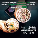 Starbucks Mid Week Deal! – 星巴克优惠促销!