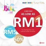 Kiko & Baby Kiko Baby Fair As Low As RM1 Only! – 宝宝服饰品牌促销,仅RM1而已!