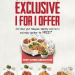 The Manhattan FISH MARKET Buy 1 FREE 1 Promo! – 买一送一优惠活动!