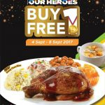 Kenny Rogers ROASTERS Buy 1 FREE 1 Deal! – 优惠买1送1促销!