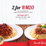Secret Recipe Offer Two Is Better Than One Deal! – Secret Recipe优惠1碟仅RM10促销!