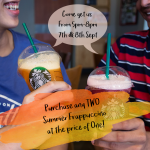 Starbucks Buy 1 FREE 1 Deal! – 星巴克买1送1优惠!