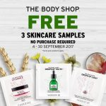 FREE The Body Shop 3 Skincare Samples Giveaway! – 免费护肤试用样品,无需消费!