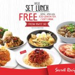 Secret Recipe Offer Lunch Hour Deal! – Secret Recipe优惠午餐套餐,还请你喝!
