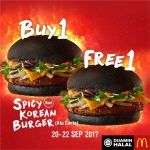 McDonald's Buy 1 FREE 1 Spicy Korean Burger Deal!- 麦当劳汉堡买1送1优惠!