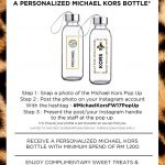FREE Michael Kors Glass Bottle Giveaway! – 免费Michael Kors玻璃瓶赠品!