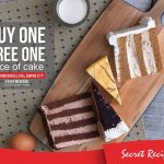 Secret Recipe Offer Buy 1 FREE 1 Deal! – Secret Recipe买1送1优惠!