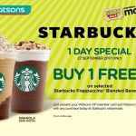 Starbucks Buy 1 FREE 1 Giveaway! – 星巴克买一送一活动!