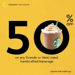 Starbucks Offer Half Price Handcrafted Beverage! – 星巴克饮料半价优惠!