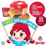 FREE Wendy's Kids Meal Giveaway! – 免费Wendy's儿童套餐吃!