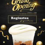 Regiustea Signature Offer Buy 1 FREE 1 Deal + FREE Drinks Voucher Giveaway! –  芝士冷泡茶优惠买1送1+免费饮料券折扣!