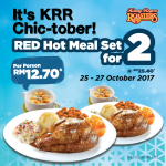 Kenny Rogers ROASTERS Red Hot Meal Set Promo! – 烤鸡2人份套餐优惠促销!