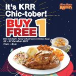 Kenny Rogers Roasters Buy 1 Free 1 Deal! – 烤鸡优惠买一送一促销!