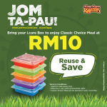 Kenny Rogers ROASTERS Classic Choice Meal for Only RM10! – 烤鸡经典套餐只需RM10!