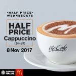 McCafe® Cappuccino (Small) Half Price Is Back! – 麦当劳咖啡仅半价优惠!