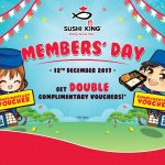 FREE Sushi King Voucher Giveaway! – 送出免费Sushi King优惠券!