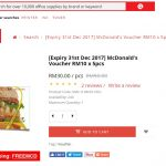 McDonald's Voucher RM10 x 5pcs at ONLY RM30 Deal! – 麦当劳RM10礼券5张,只需RM30而已!