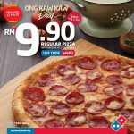Domino's Pizza Malaysia Offer Ong Kaw Kaw Deal! – Domino's比萨特优价,只要RM9.90而已!