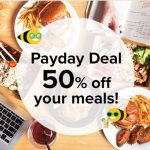 Honestbee Offer Payday Deal! – 所有人享有,高达50%的折扣用餐!