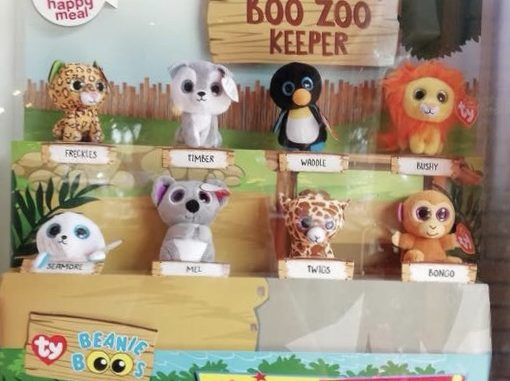 McDonald s Happy Meal Free Teenie Beanie Boos A Boo Zoo Keeper Toys ... d3d7009be61