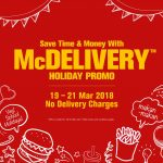 McDelivery Holiday Promo! – 免费麦当劳外卖,零运费优惠促销!