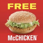 FREE McDonald's McChicken Burger Giveaway! – 免费吃麦当劳汉堡!