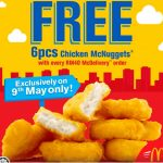 FREE 6pc McDonal's  Chicken McNuggets Giveaway! – 免费麦当劳鸡肉块!