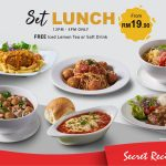 Secret Recipe Malaysia Jom Makan Deal! –  Secret Recipe套餐优惠,优惠价从RM19.90起!