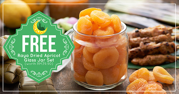 FREE Dried Apricot Glass Jar Set Giveaway! - 免费Dried Apricot和玻璃罐,价值RM39.90!