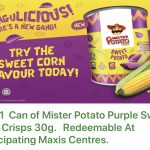 FREE 1 can of Mister Potato Purple Sweet Corn Crisps Giveaway! – 免费一罐的Mister Potato紫薯片吃!