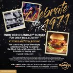 Hard Rock Cafe Special Anniversary Deal! – Hard Rock咖啡厅周年纪念优惠促销!
