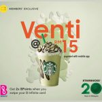 Starbucks Any Venti Sized Handcrafted Beverage Deal! – 星巴克任何Venti饮料特优惠促销!