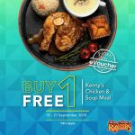 Kenny Rogers ROASTERS offer BUY 1 FREE 1 deal!  – 烤鸡买一送一优惠!