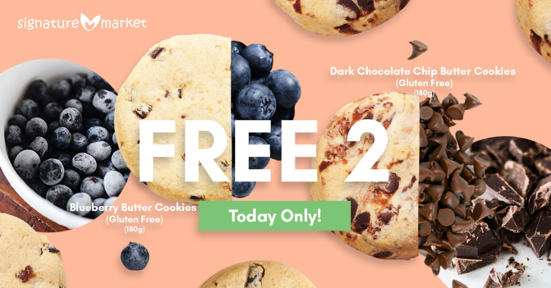 FREE Dark Chocolate Chip Butter Cookies and Blueberry Butter Cookies Giveaway!~请你吃免费曲奇饼干!
