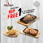 NY Steak Shack Buy 1 FREE 1 Deal! NY Steak Shack西餐铁板烧买一送一优惠!